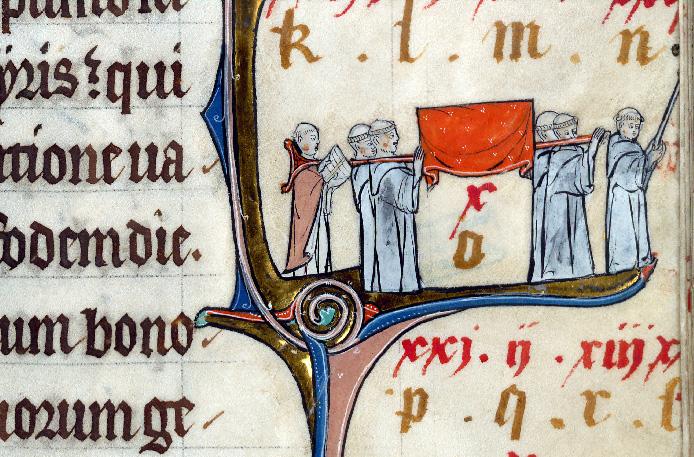 Martyrologe-obituaire de l'abbaye Notre-Dame des Prés de Douai - Saint Bernard et moines/Translation de saint Bernard_0
