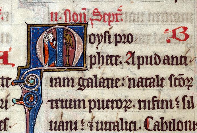 Martyrologe-obituaire de l'abbaye Notre-Dame des Prés de Douai - Moïse et le serpent d'airain_0