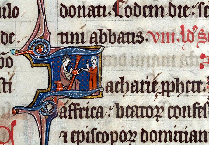 Martyrologe-obituaire de l'abbaye Notre-Dame des Prés de Douai - Zacharie (à préciser)_0