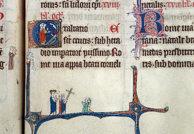 Martyrologe-obituaire de l'abbaye Notre-Dame des Prés de Douai - Invention de la vraie Croix/Héraclius et adoration de la Croix_0