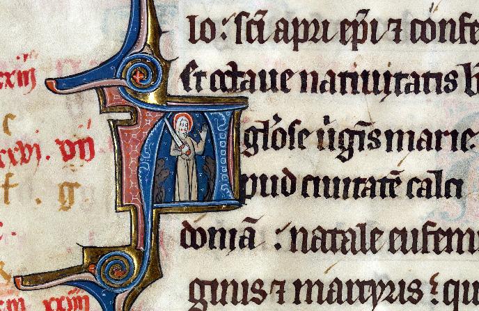 Martyrologe-obituaire de l'abbaye Notre-Dame des Prés de Douai - Sainte Euphémie_0