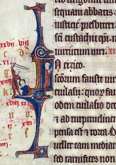 Martyrologe-obituaire de l'abbaye Notre-Dame des Prés de Douai - Sainte Fauste/Décollation de sainte Fauste_0