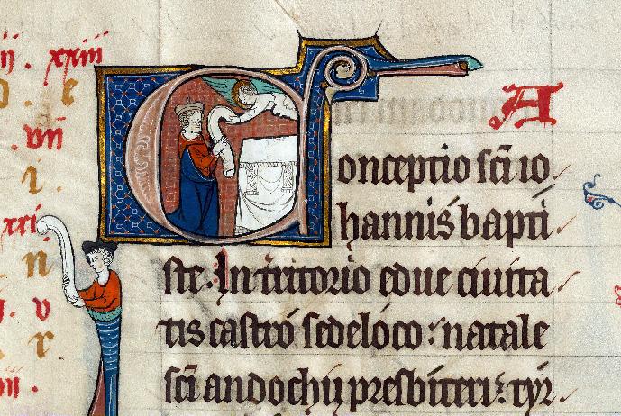 Martyrologe-obituaire de l'abbaye Notre-Dame des Prés de Douai - Annonce à Zacharie_0