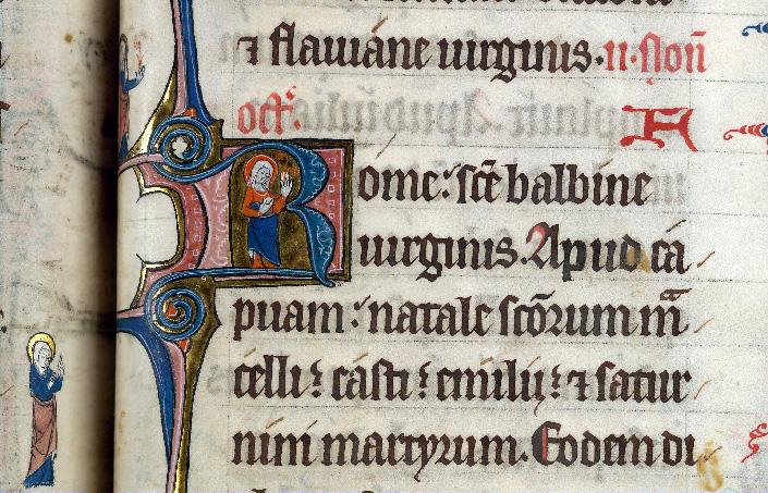 Martyrologe-obituaire de l'abbaye Notre-Dame des Prés de Douai - Sainte Balbine_0