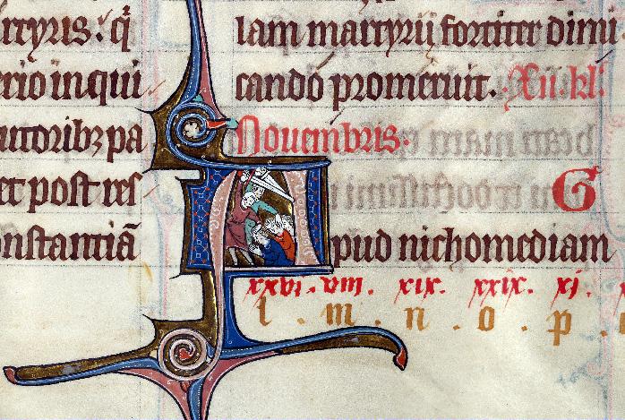 Martyrologe-obituaire de l'abbaye Notre-Dame des Prés de Douai - Décollation des saints Dasius, Zotique et Caïus_0