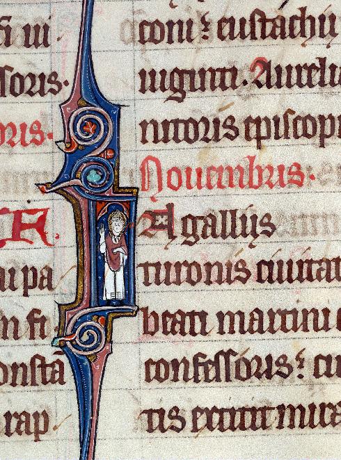Martyrologe-obituaire de l'abbaye Notre-Dame des Prés de Douai - Saint Martin/Saint Martin partageant son manteau_0