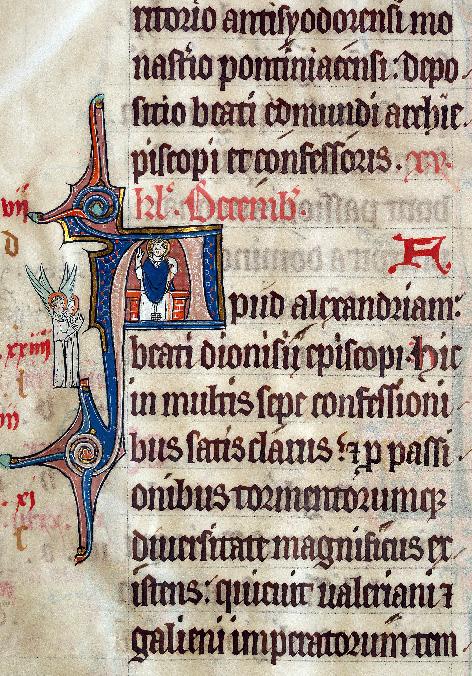 Martyrologe-obituaire de l'abbaye Notre-Dame des Prés de Douai - Saint Denys d'Alexandrie_0
