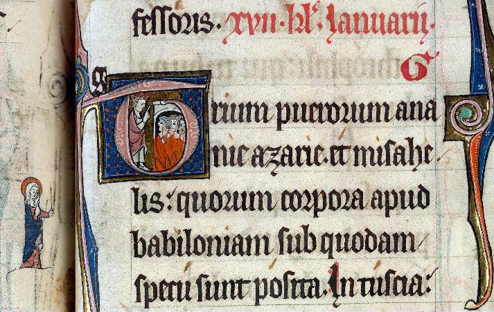 Martyrologe-obituaire de l'abbaye Notre-Dame des Prés de Douai - Trois Hébreux dans la fournaise (Les)_0