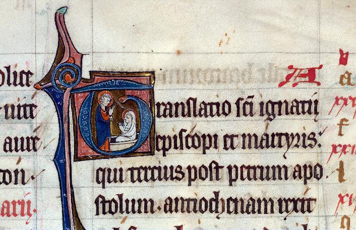 Martyrologe-obituaire de l'abbaye Notre-Dame des Prés de Douai - Résurrection de Lazare_0