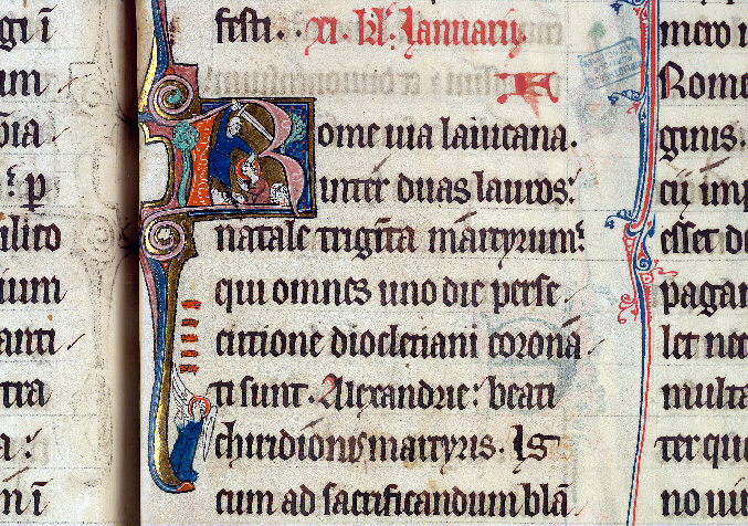 Martyrologe-obituaire de l'abbaye Notre-Dame des Prés de Douai - Décollation des Trente Couronnés_0