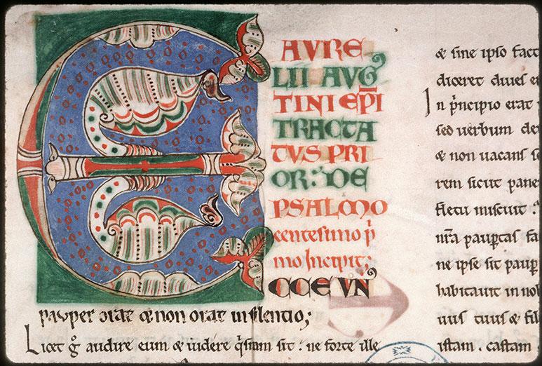 Enarrationes in Psalmos - Initiale ornée_0