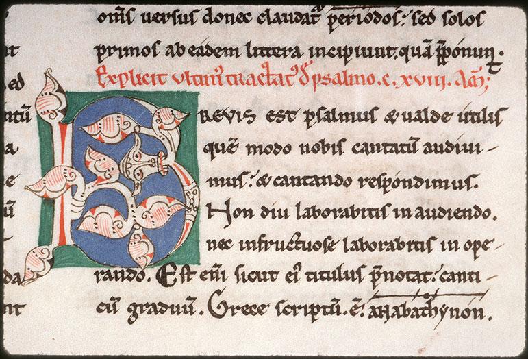 Enarrationes in Psalmos - Tête animale crachant des végétaux_0