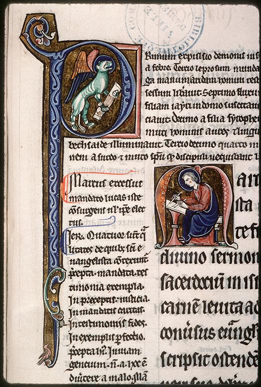 Evangiles glosés - Saint Marc écrivant_0