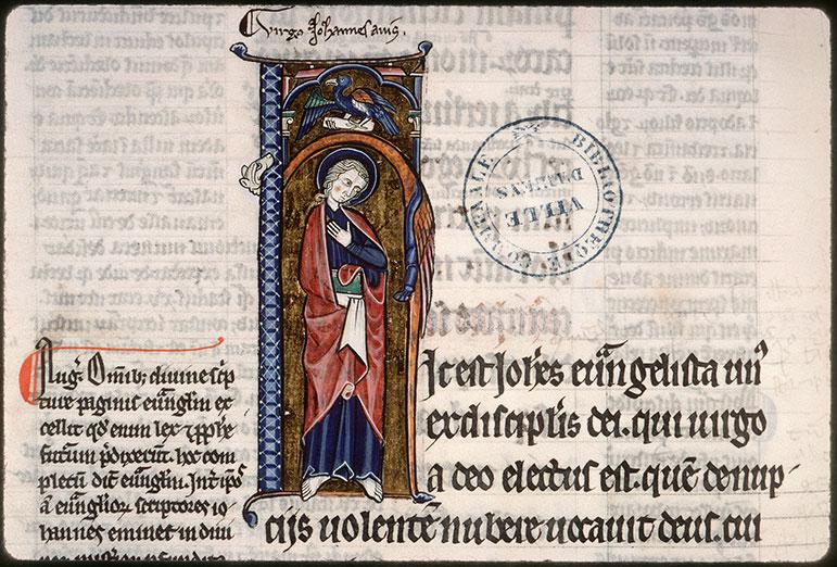 Evangiles glosés - Saint Jean et son symbole_0