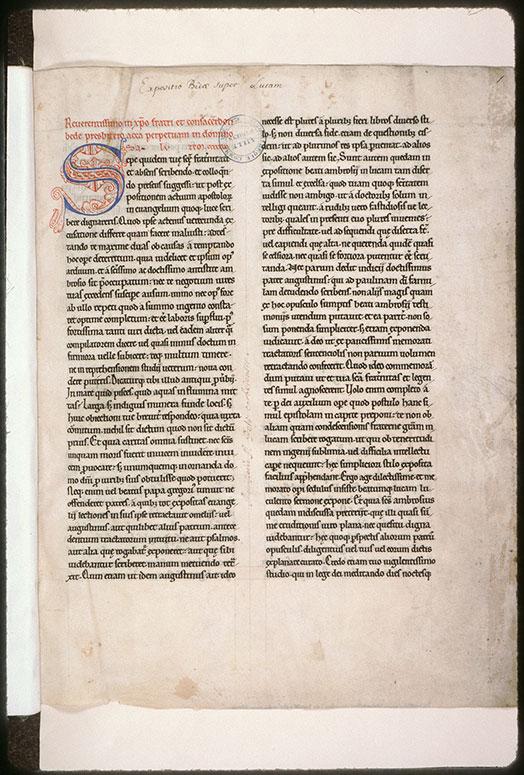 Expositio in Evangelium Lucae
