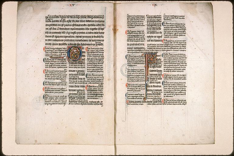 Evangiles de Luc et de Jean glosés - Initiale ornée_0