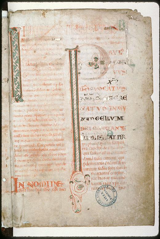 Expositio in Epistulas Pauli ex operibus Augustini - Initiales ornées_0