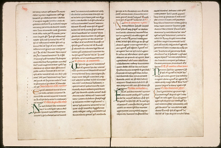 Expositio in Epistulas Pauli ex operibus Augustini - Initiales de couleur ornées_0