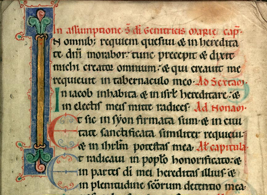 Collectaire à l'usage de l'abbaye Sainte-Rictrude de Marchiennes - Initiale champie_0