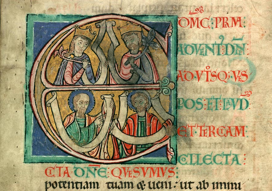 Collectaire à l'usage de l'abbaye Sainte-Rictrude de Marchiennes - Rois et saints (à préciser)_0