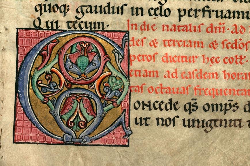 Collectaire à l'usage de l'abbaye Sainte-Rictrude de Marchiennes - Initiale ornée_0