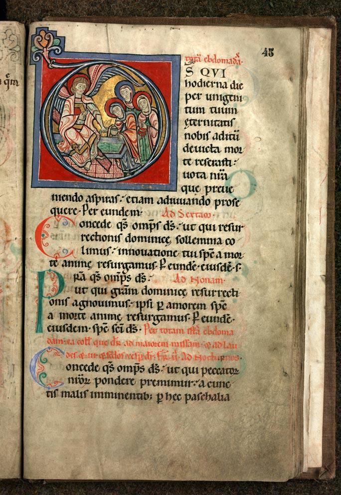 Collectaire à l'usage de l'abbaye Sainte-Rictrude de Marchiennes - Saintes Femmes au tombeau_0