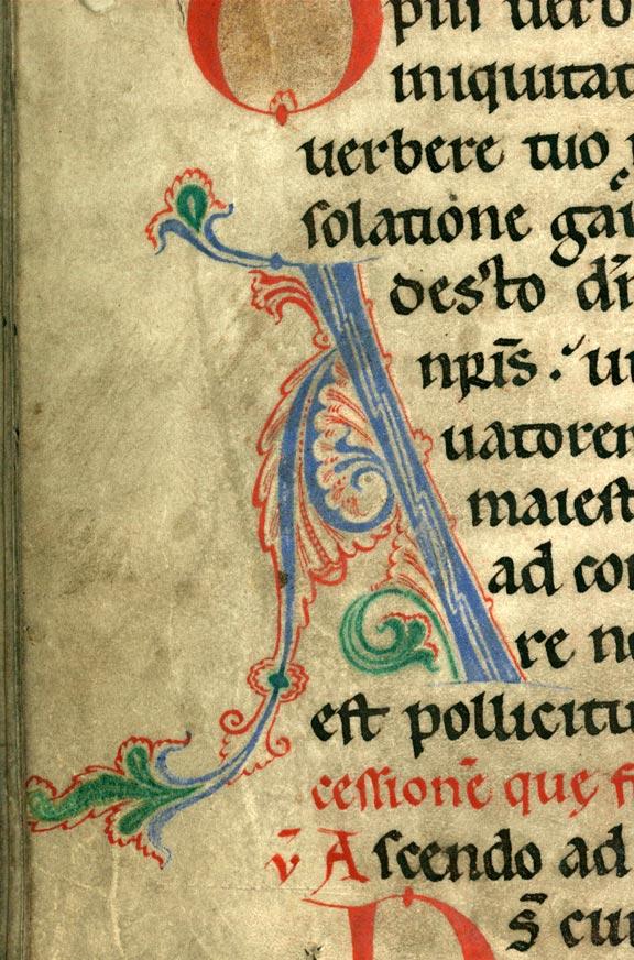 Collectaire à l'usage de l'abbaye Sainte-Rictrude de Marchiennes - Initiale de couleur ornée_0