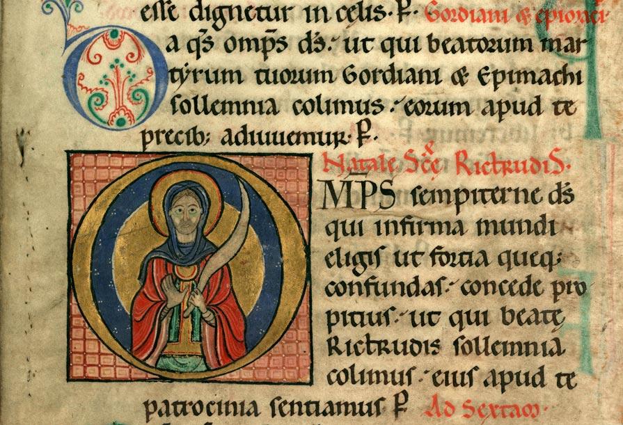 Collectaire à l'usage de l'abbaye Sainte-Rictrude de Marchiennes - Sainte Rictrude_0