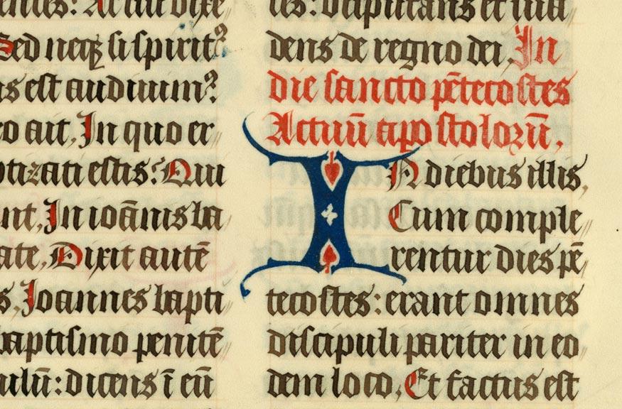 Epistolier à l'usage de l'abbaye d'Anchin - Initiale de couleur ornée_0