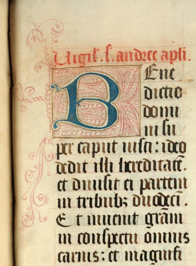 Epistolier à l'usage de l'abbaye d'Anchin - Initiale filigranée_0