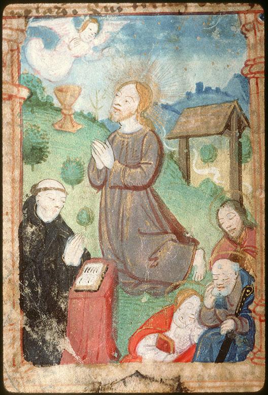 Diurnal à l'usage de l'abbaye Saint-Pierre de Corbie - Agonie du Christ_0