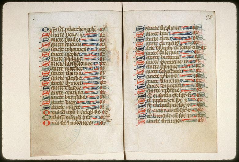 Diurnal à l'usage de l'abbaye Saint-Pierre de Corbie - Initiales et bouts-de-ligne_0