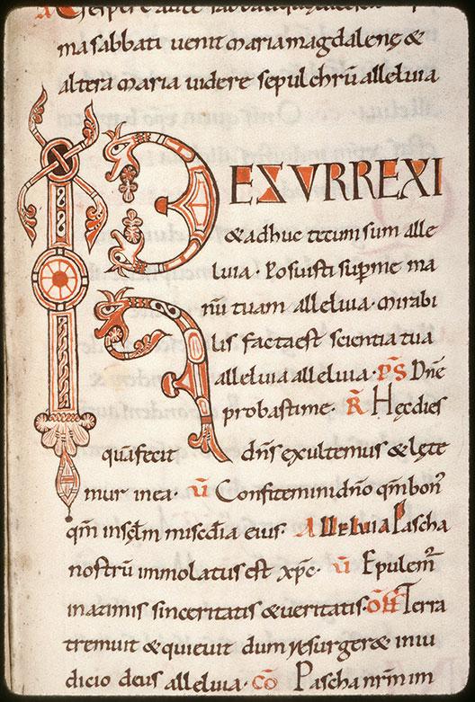 Missel à l'usage de l'abbaye Saint-Pierre de Corbie/Psautier - Hybrides zoomorphes crachant des végétaux_0