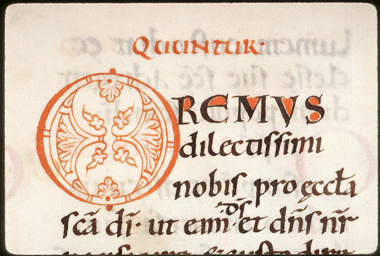 Missel à l'usage de l'abbaye Saint-Pierre de Corbie/Psautier - Initiale de couleur ornée_0