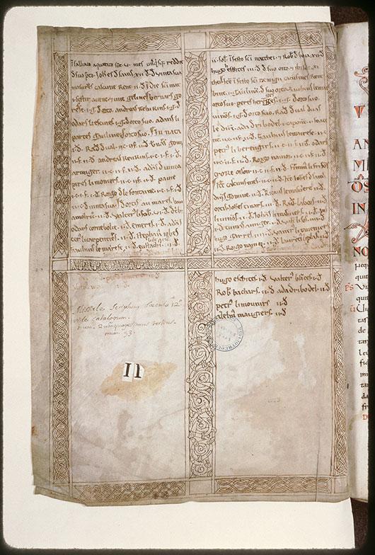 Censier de l'abbaye Saint-Pierre de Corbie (fragment) - Page décorée_0
