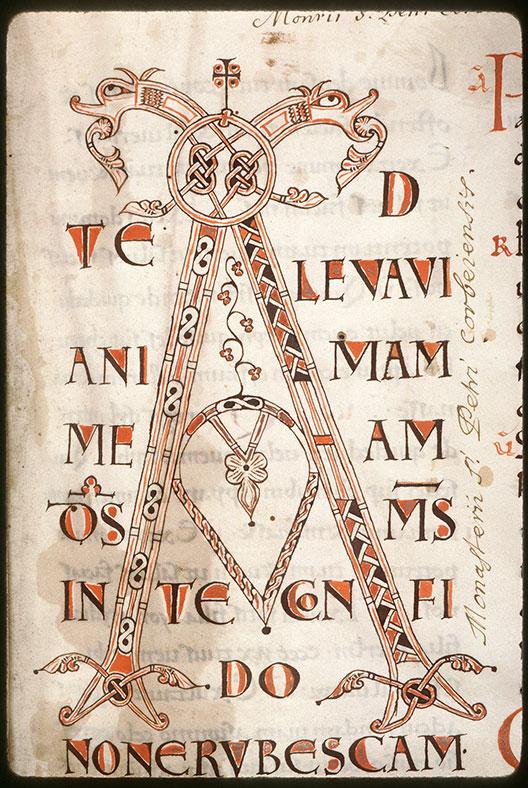 Missel à l'usage de l'abbaye Saint-Pierre de Corbie/Psautier - Ecriture d'apparat_0