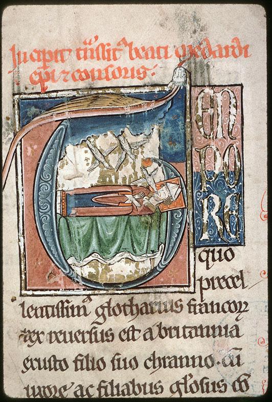 Lectionnaire de l'office (fragment ?) - Mort de saint Médard_0