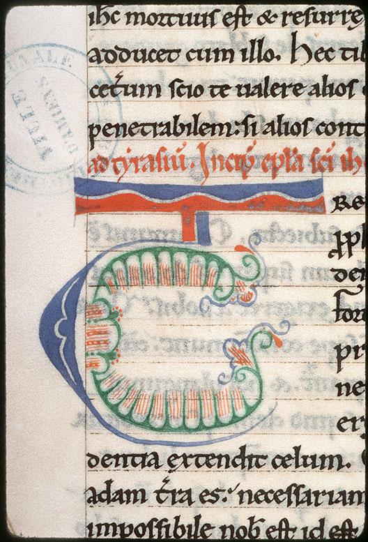 Epistulae/Opuscula - Initiale de couleur ornée_0