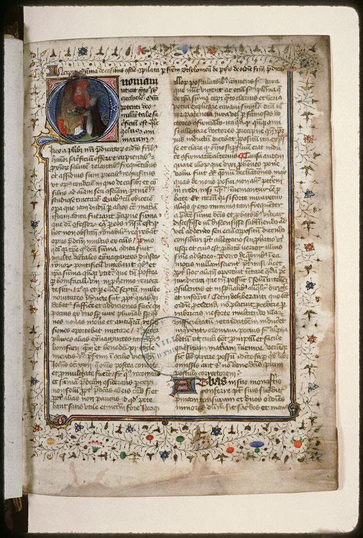 Summa de casibus conscientiae - Bartolomeo da San Concordio remettant son ouvrage à Benoît XII_0