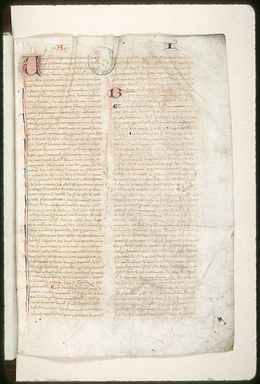 Recueil de droit canon - Initiales filigranées_0