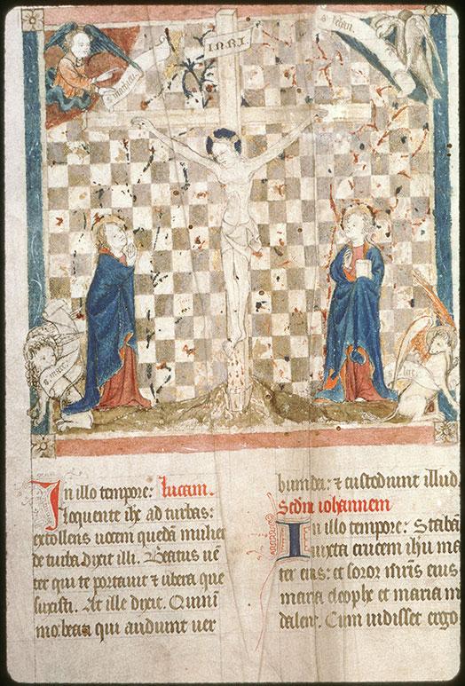 Statuts synodaux du diocèse d'Amiens - Christ en croix entre Marie et Jean entourés du Tétramorphe_0