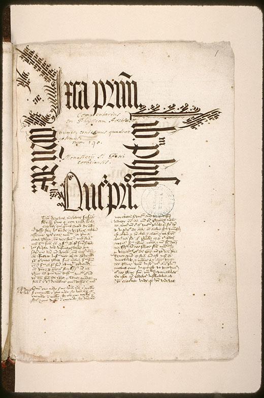 Expositio et quaestiones in Aristotelis opera - Ecriture d'apparat_0
