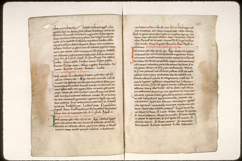 Cartulaire de l'abbaye Saint-Nicolas d'Arrouaise - Initiales de couleur ornées_0