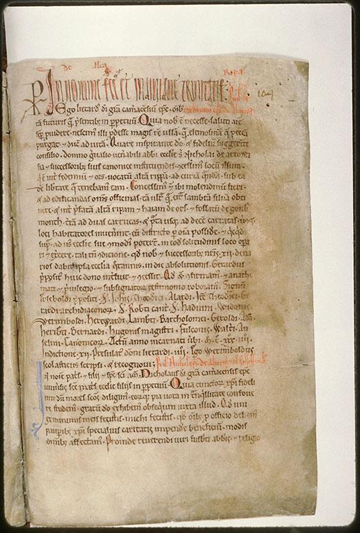 Cartulaire de l'abbaye Saint-Nicolas d'Arrouaise