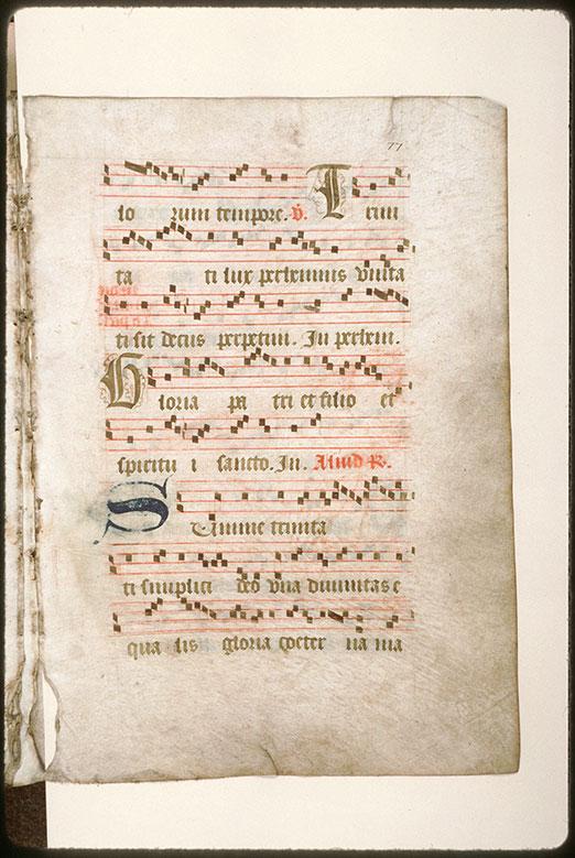 Antiphonaire (fragment) - Tête d'homme_0