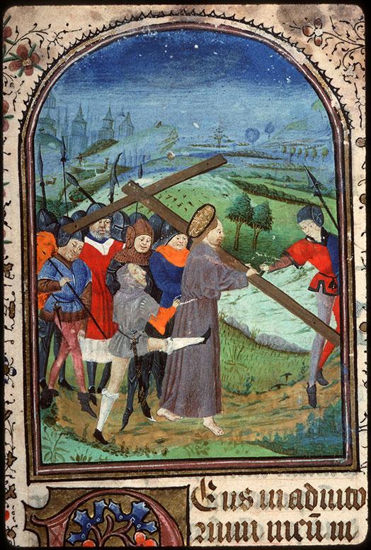 Heures à l'usage d'Amiens - Christ portant sa croix_0