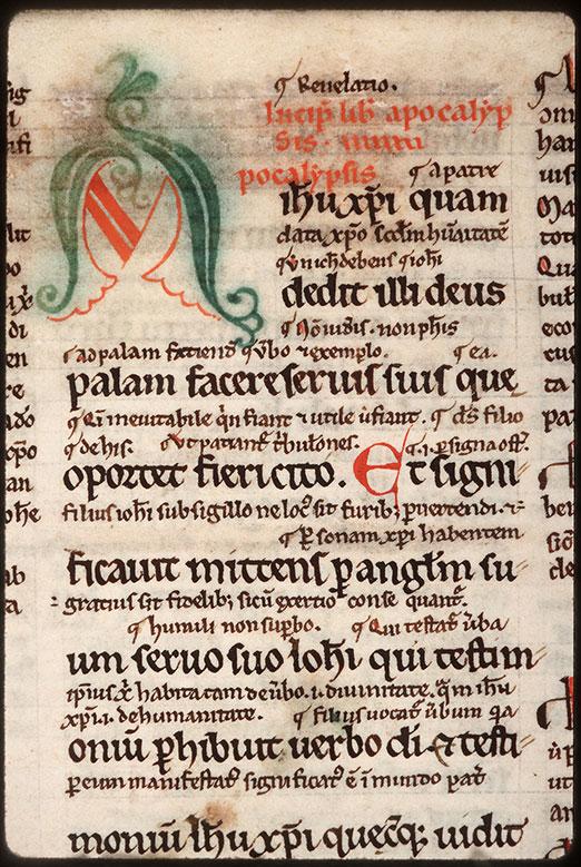 Bible (partie de) - Initiale de couleur ornée_0
