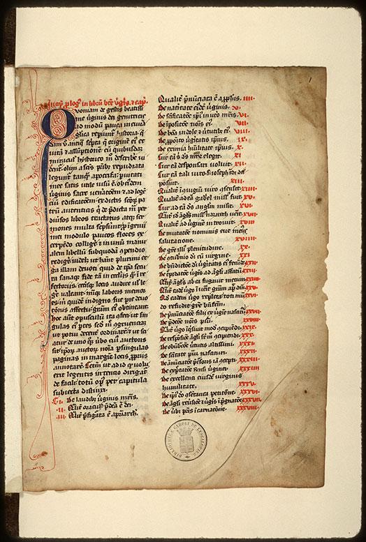 Laudibus beatae Mariae Virginis (De)/Sancto Johanne evangelista (De) - Initiale filigranée_0