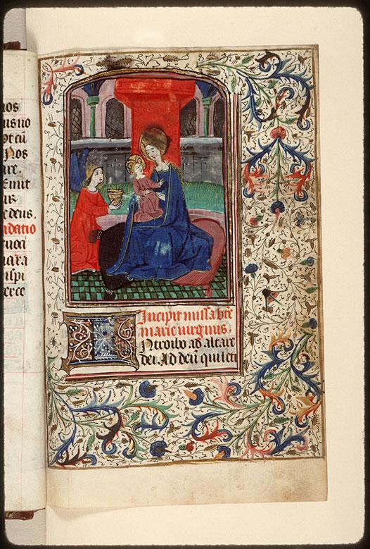 Heures à l'usage de Rome - Vierge à l'Enfant et ange_0