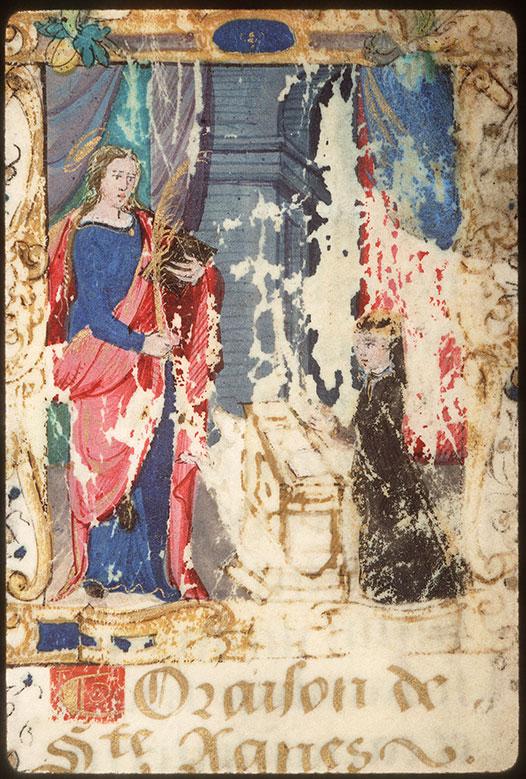Heures - Donatrice priant sainte Agnès_0